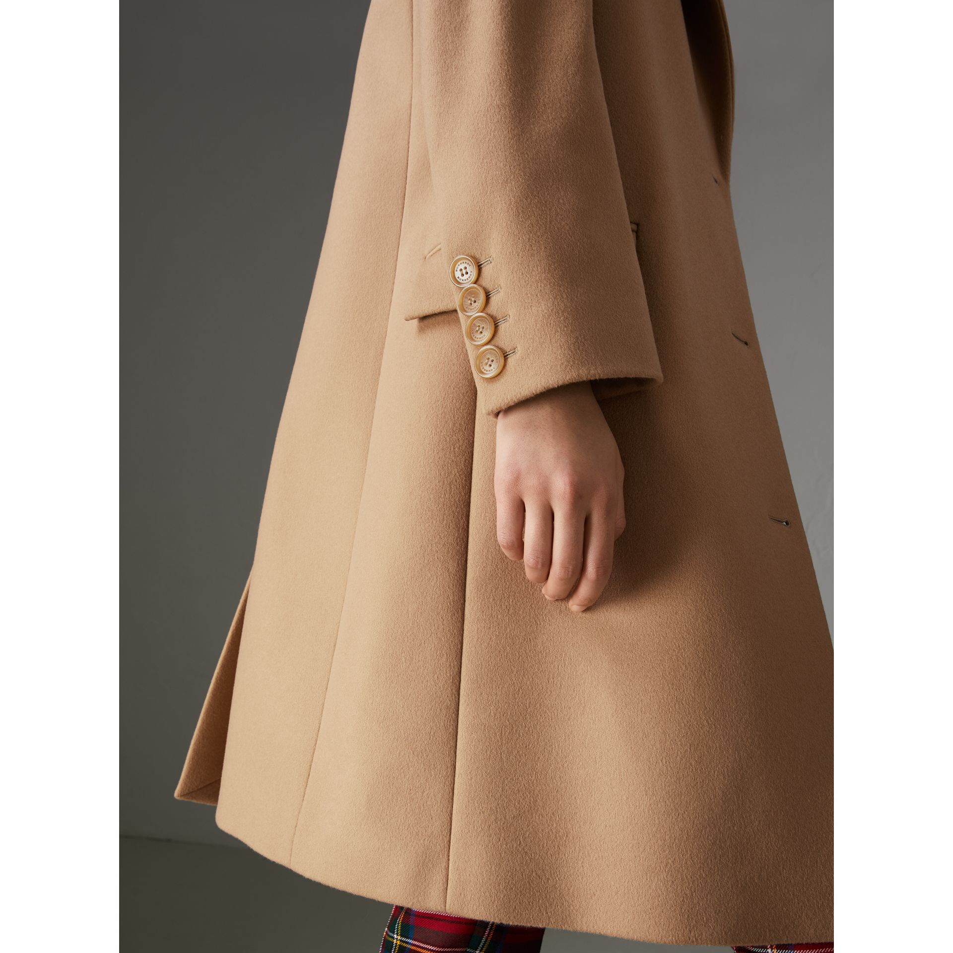 Wool Cashmere Tailored Coat in Camel - Women | Burberry - gallery image 1