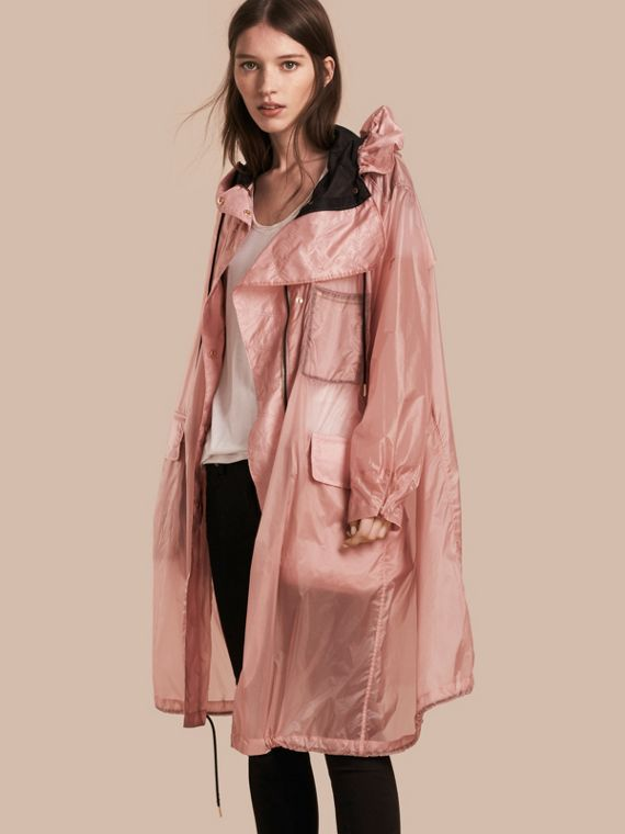 Oversize Technical Packaway Parka with Hood Ash Rose