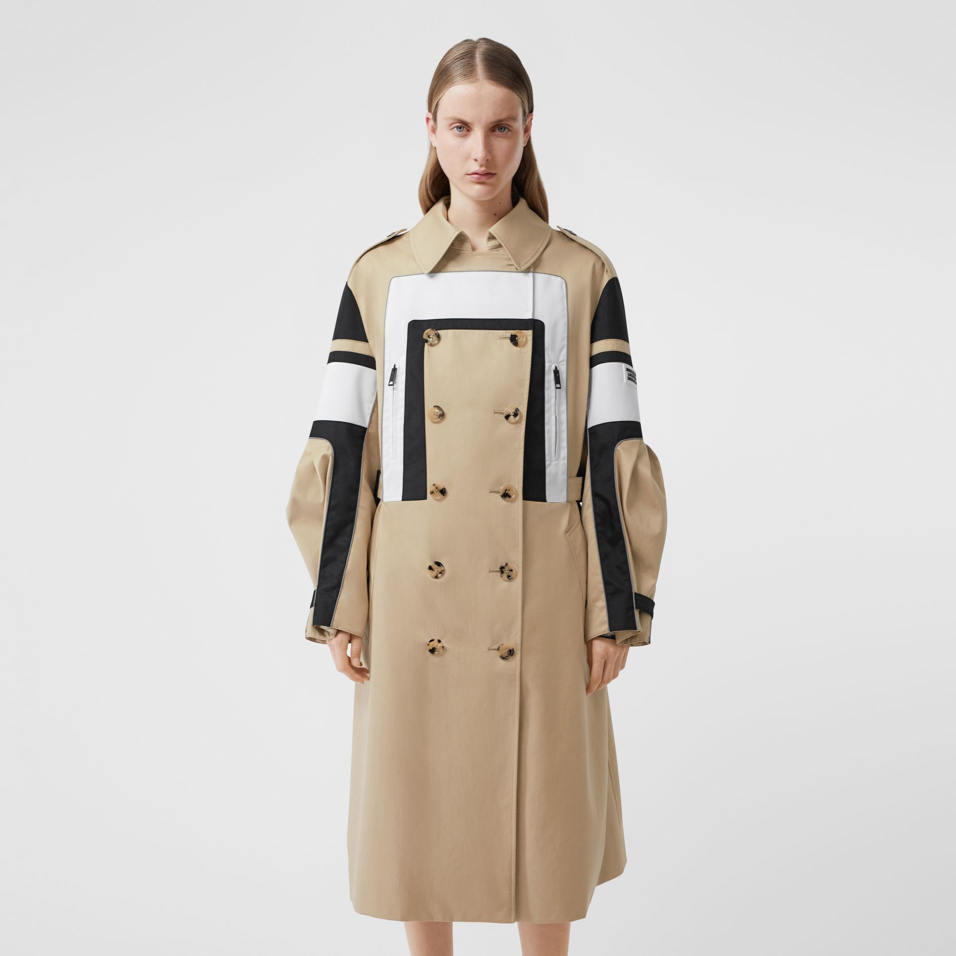 Cotton Gabardine Reconstructed Trench Coat in Soft Fawn - Women | Burberry Australia - gallery image 0