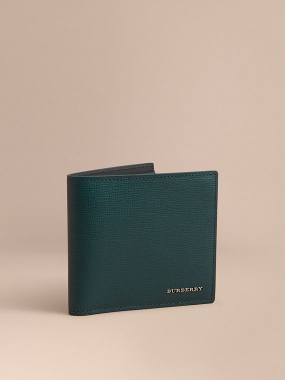 London Leather International Bifold Coin Wallet | Burberry Singapore