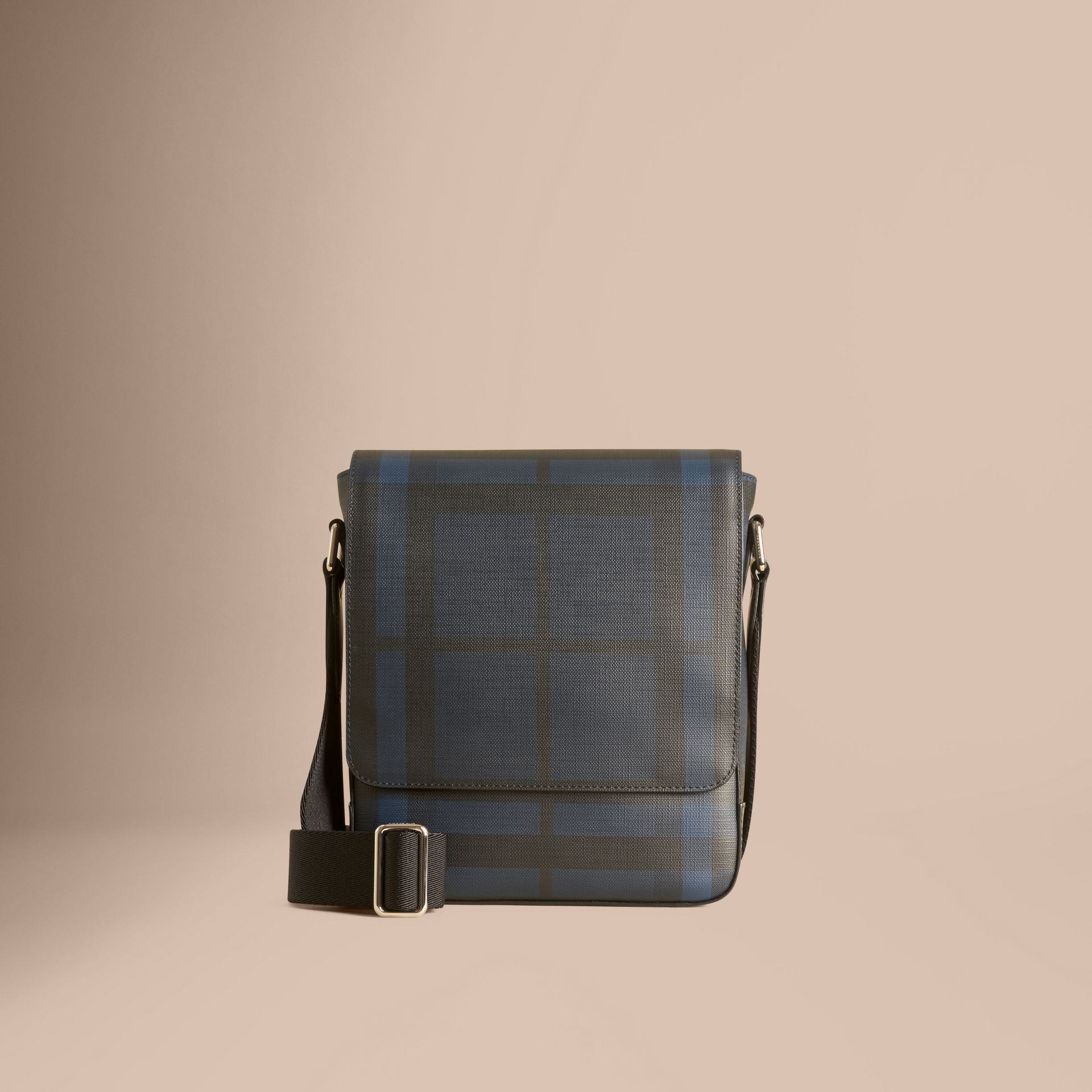 London Check Crossbody Bag in Navy/black - gallery image 7