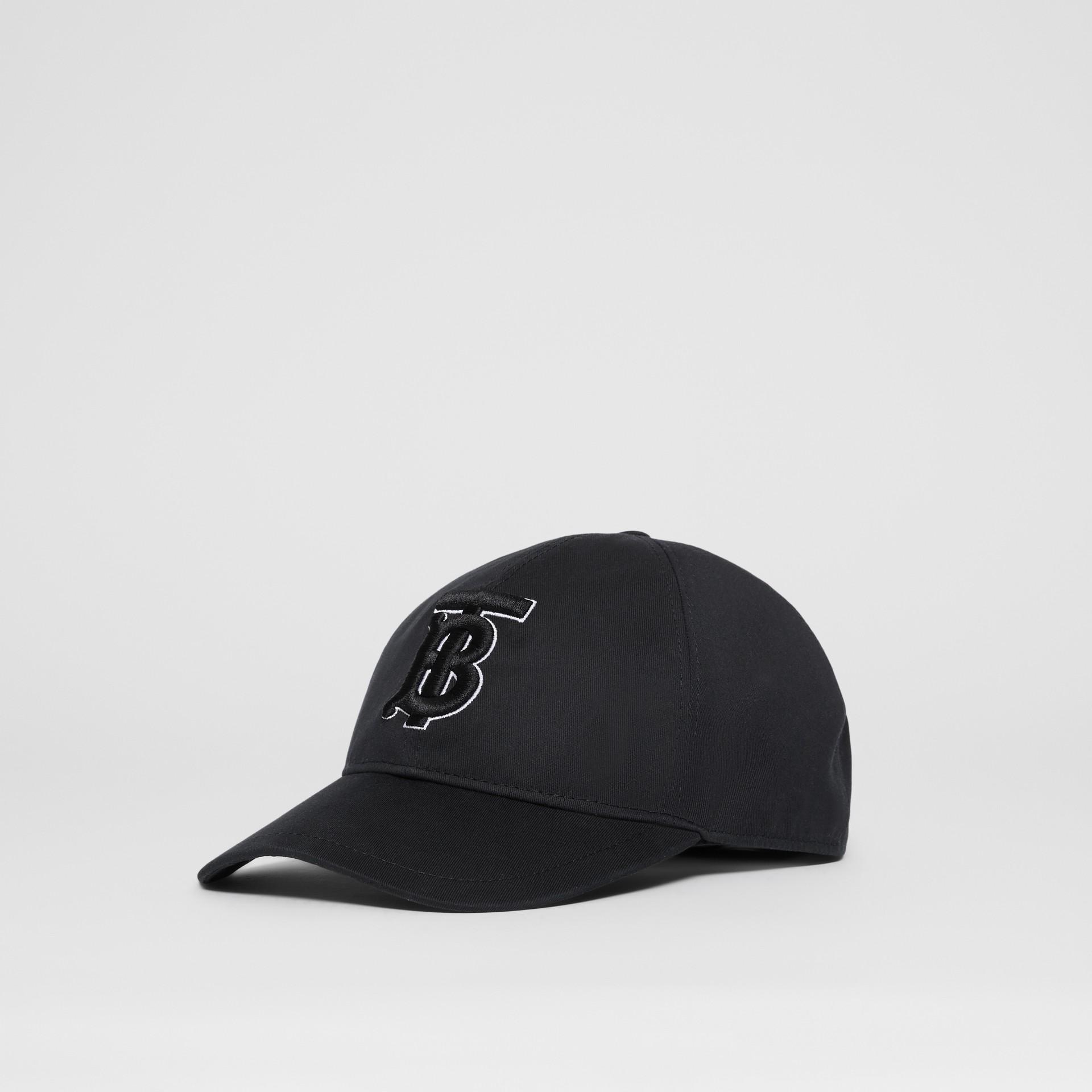 Casquette de baseball Monogram (Noir/noir) | Burberry Canada - photo de la galerie 3