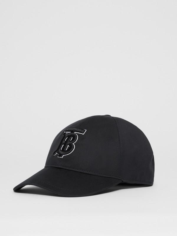 Casquette de baseball Monogram (Noir/noir) | Burberry Canada - cell image 3