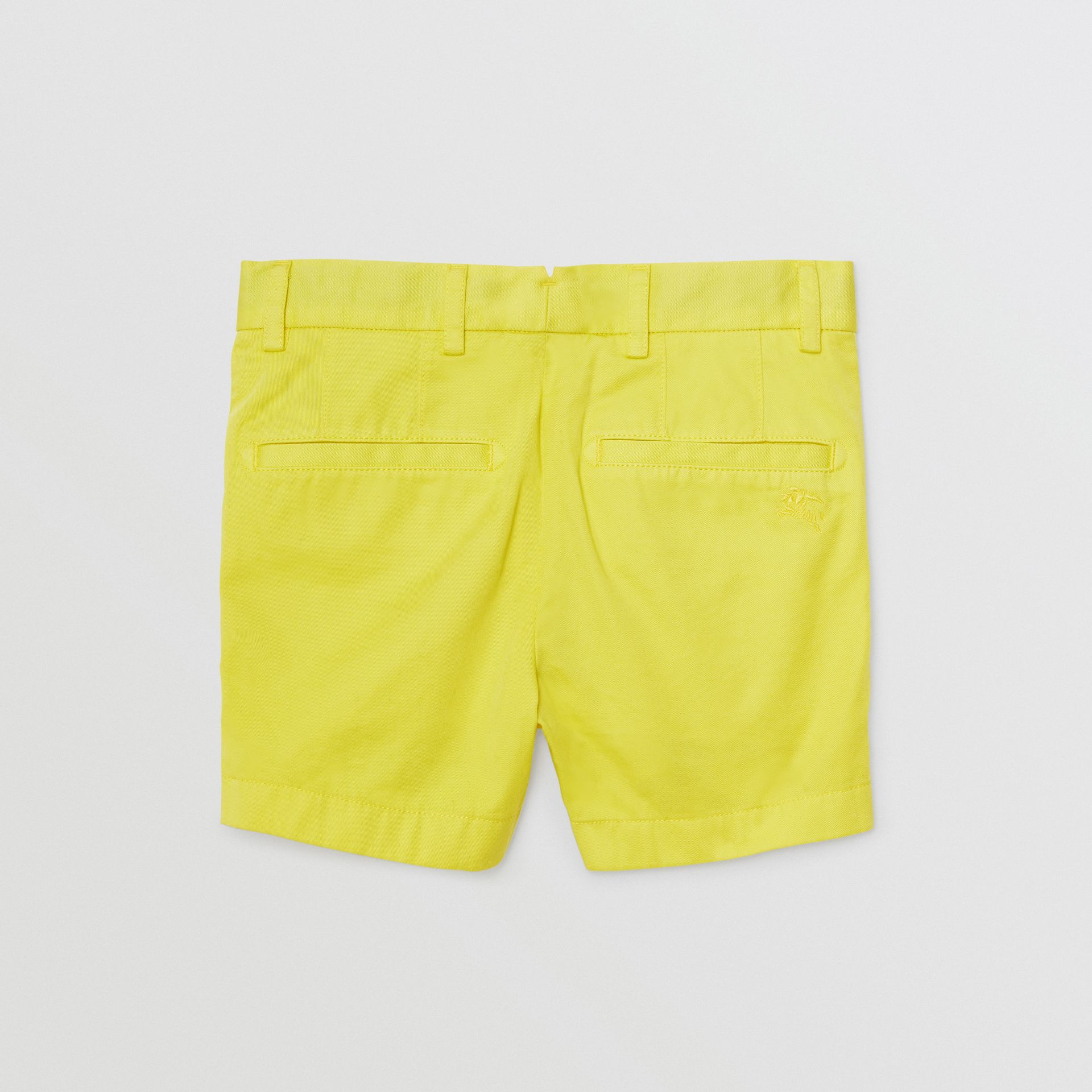 Cotton Chino Shorts in Citron | Burberry - gallery image 3