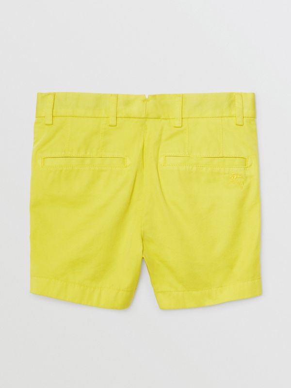 Cotton Chino Shorts in Citron | Burberry - cell image 3
