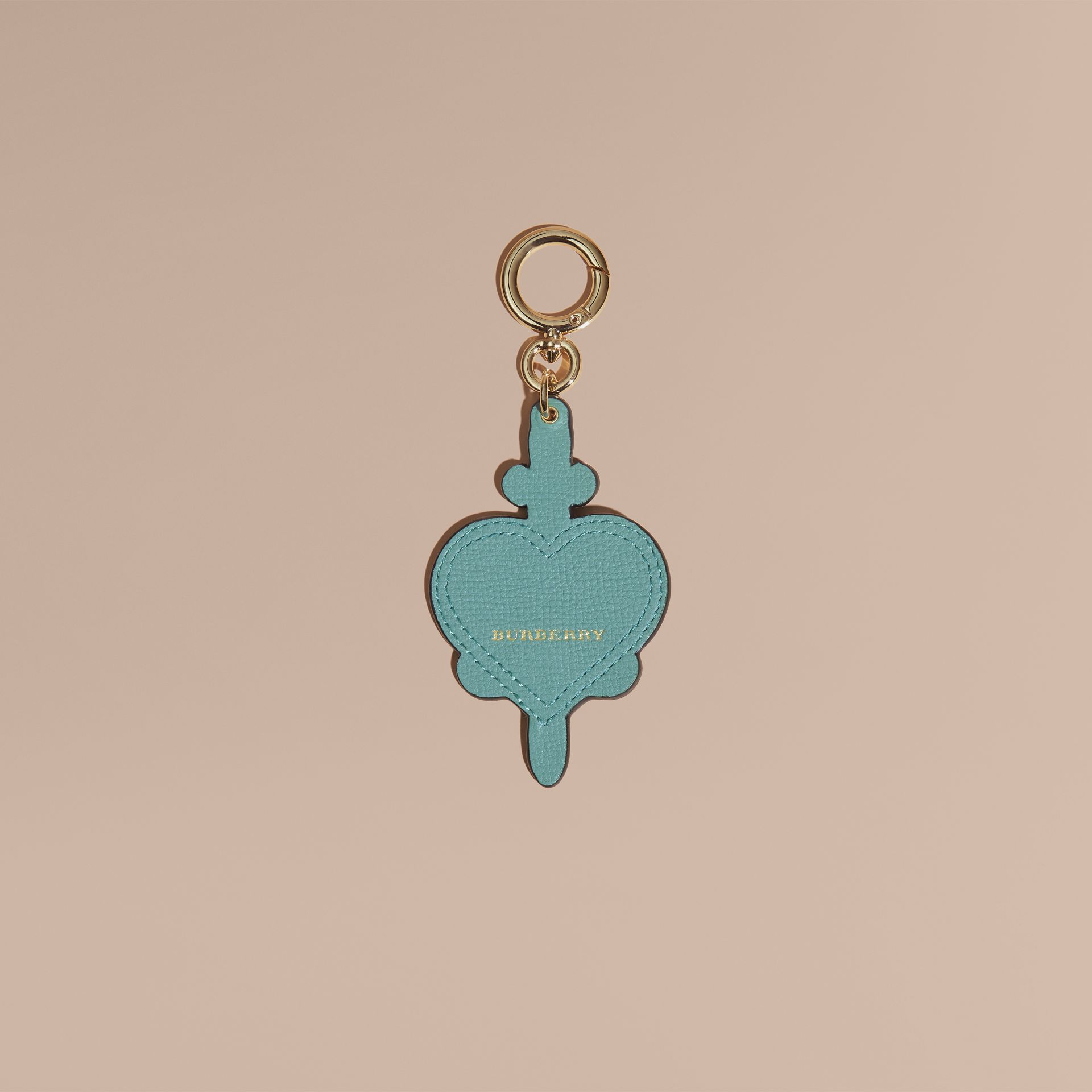 Longing Motif Leather Key Charm - gallery image 2