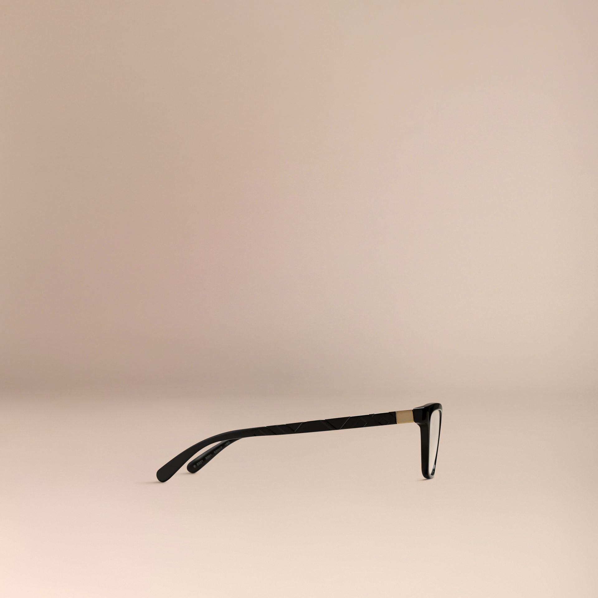 Black Check Detail Cat-eye Optical Frames Black - gallery image 4