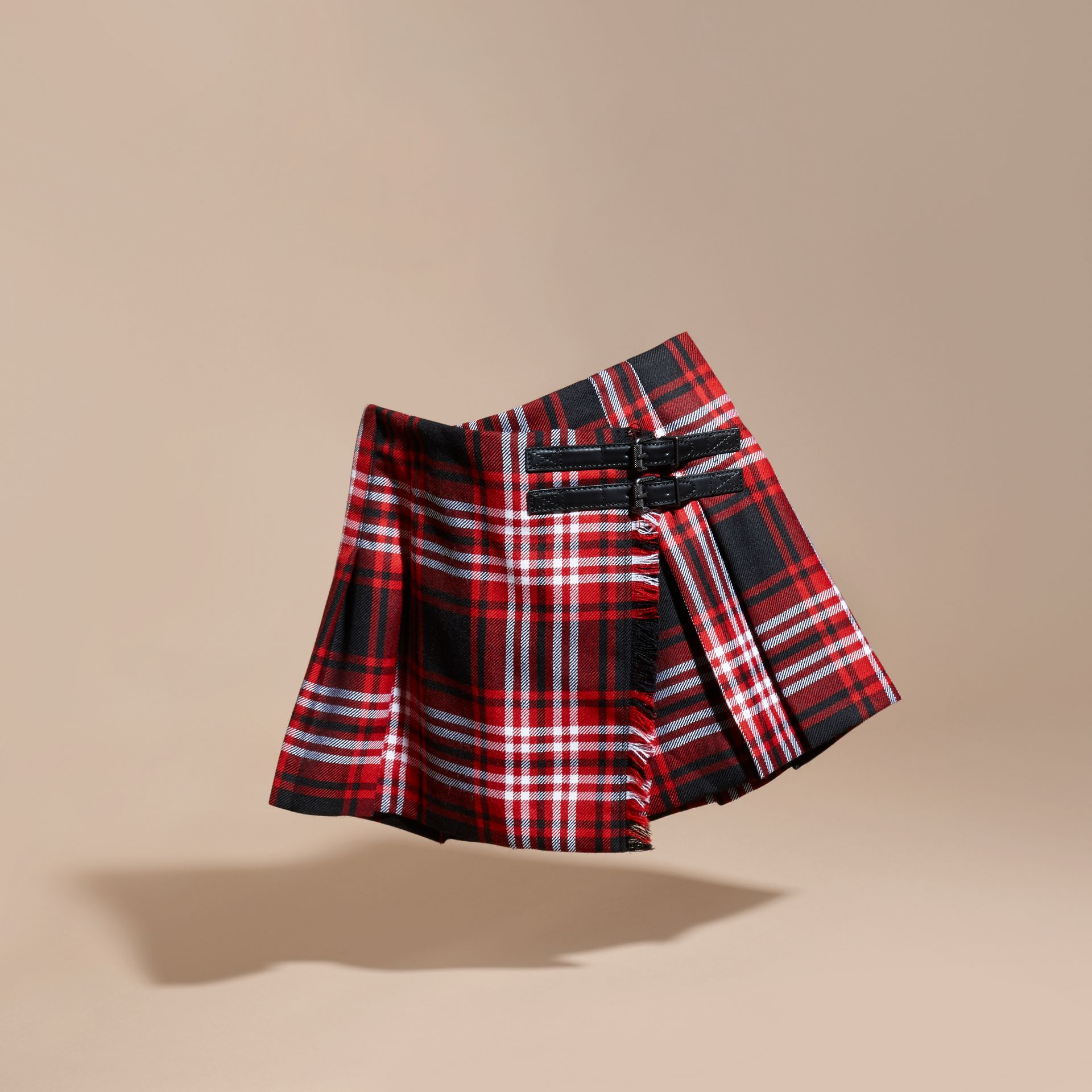 Parade red Check Wool Kilt - gallery image 3