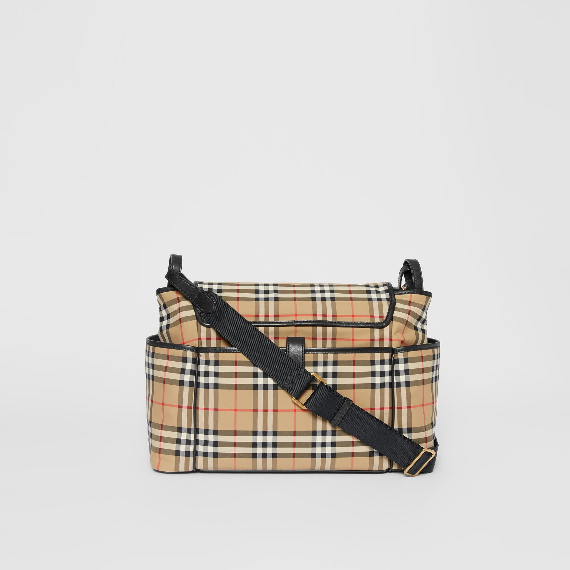 Logo Print Vintage Check Baby Changing Bag in Archive Beige - Children | Burberry - gallery image 5