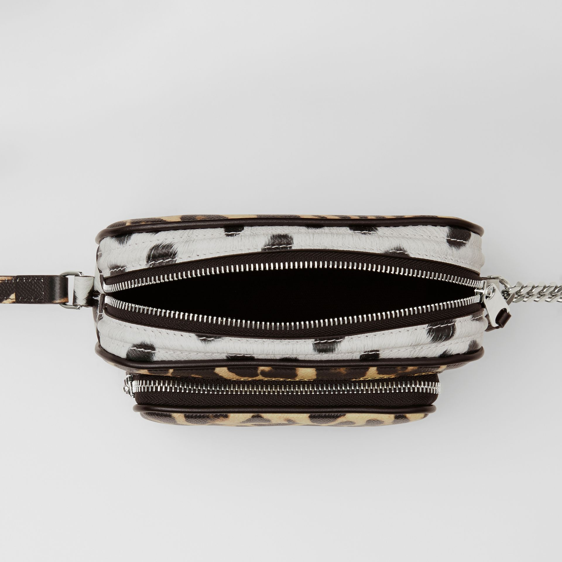 Animal Print Leather Camera Bag in Honey/black - Women | Burberry Australia - gallery image 3