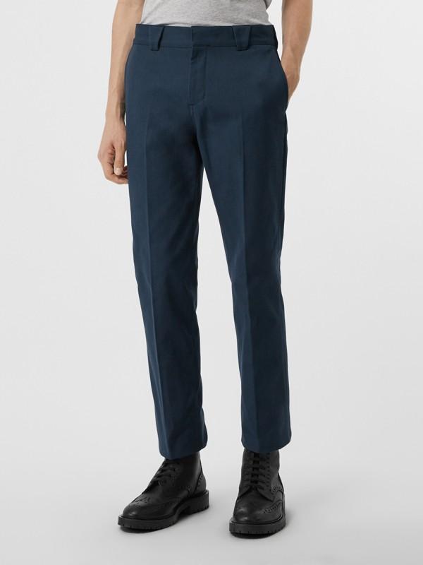 Pantalon en sergé de coton technique (Marine) - Homme | Burberry Canada - cell image 3