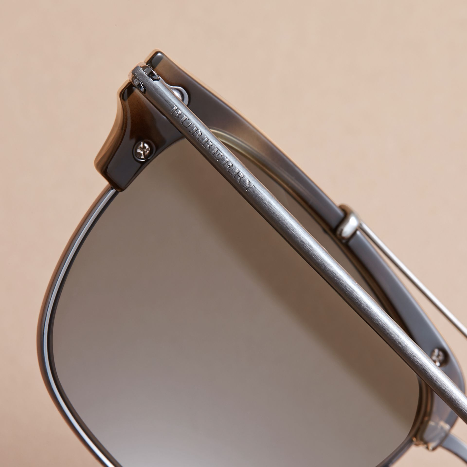 Square Frame Sunglasses in Grey - gallery image 2