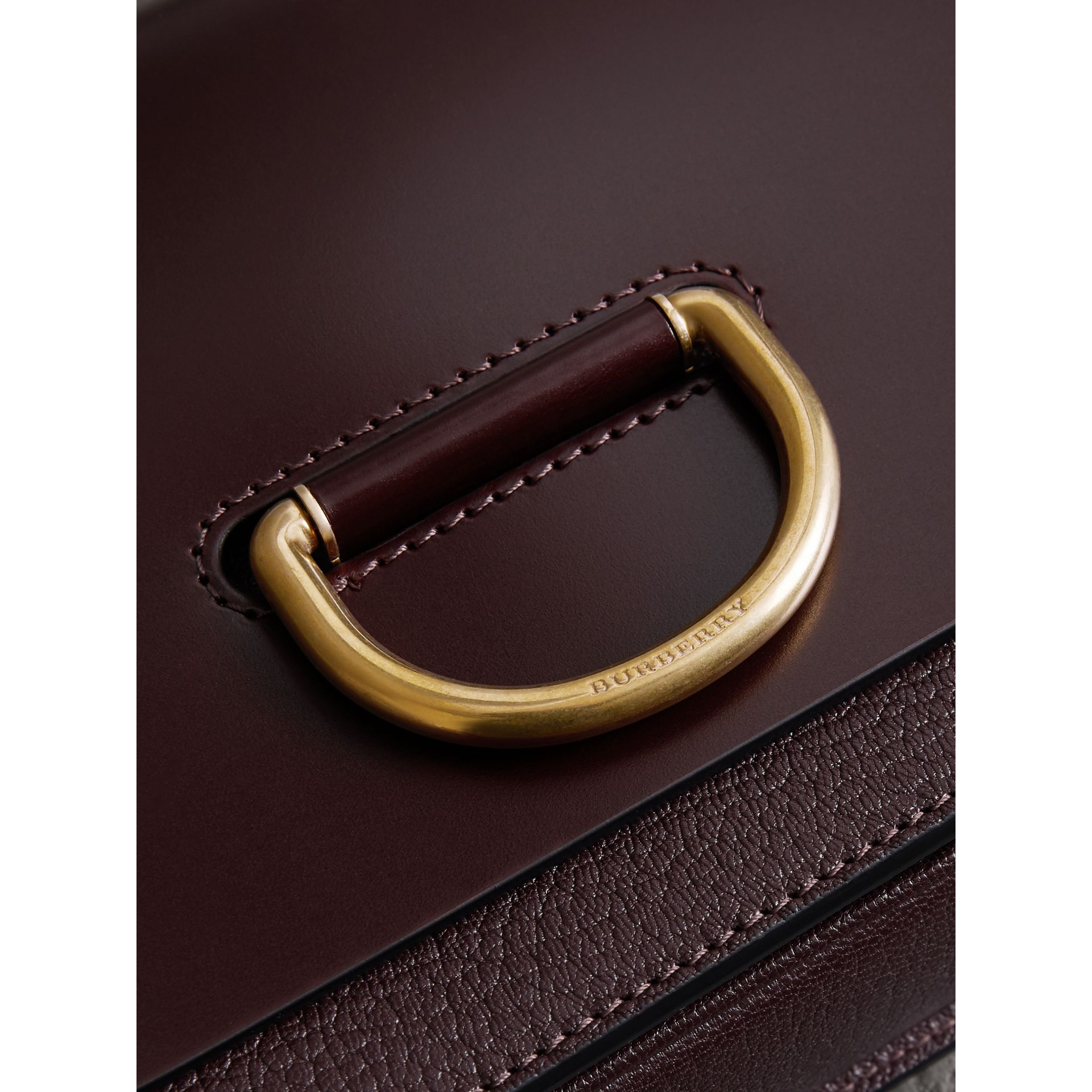 The Small Leather D-ring Bag in Deep Claret - Women | Burberry - gallery image 1