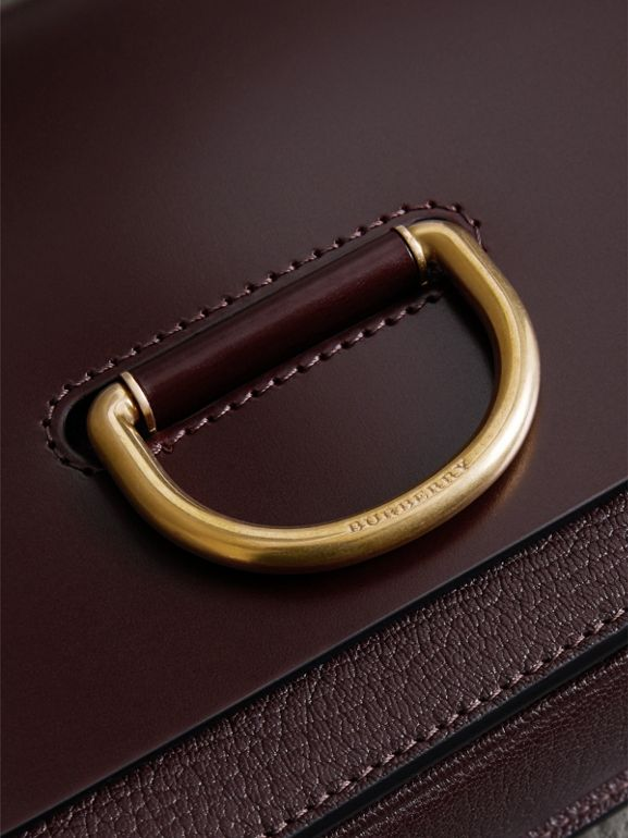 The Small Leather D-ring Bag in Deep Claret - Women | Burberry Canada - cell image 1
