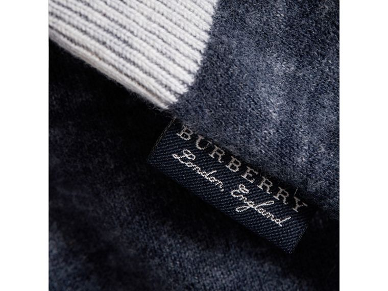 Cashmere Cotton Three-piece Baby Gift Set in Navy | Burberry - cell image 1
