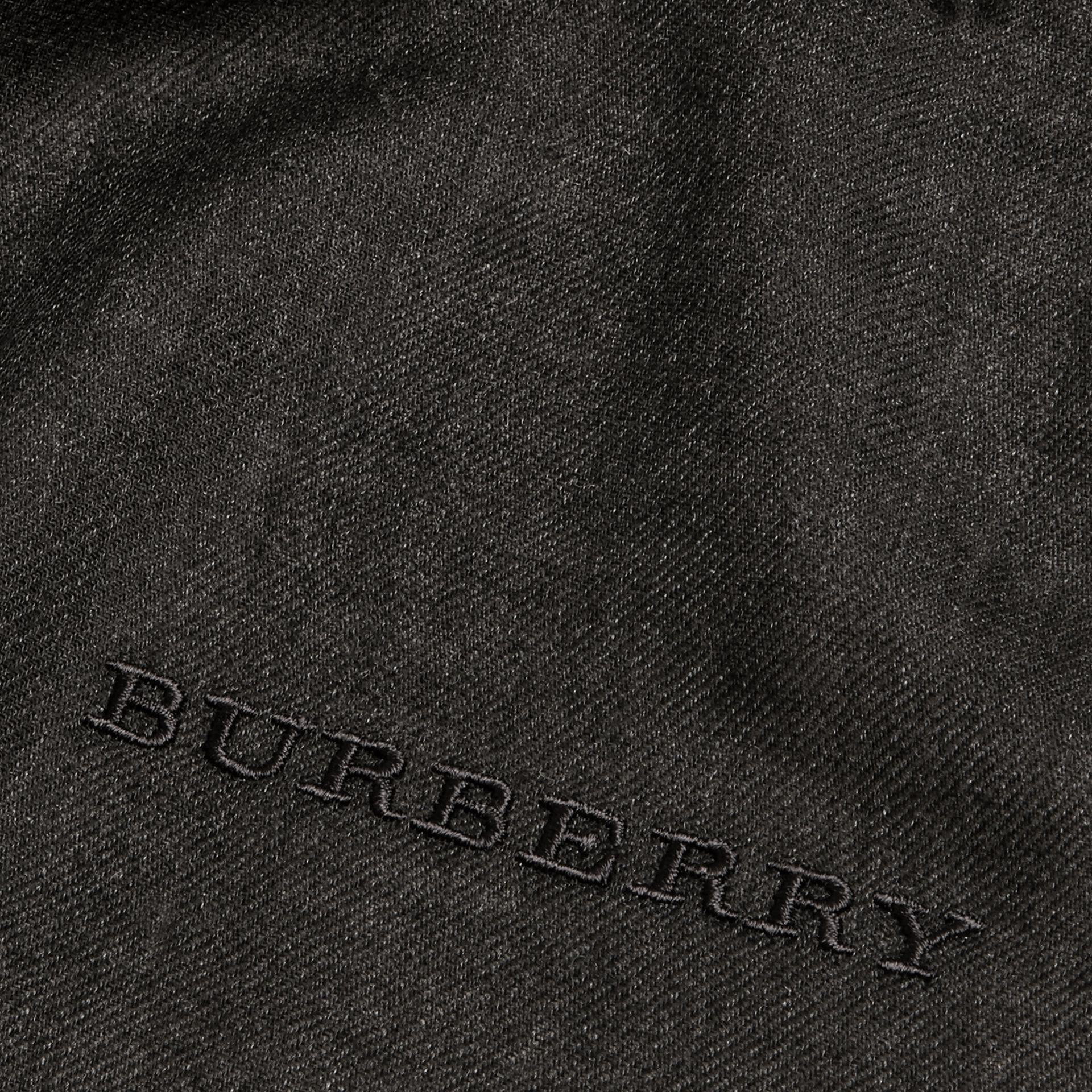 The Lightweight Cashmere Scarf in Charcoal | Burberry - gallery image 5