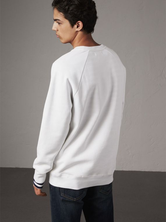 London Icons Print Sweatshirt in White - Men | Burberry - cell image 2