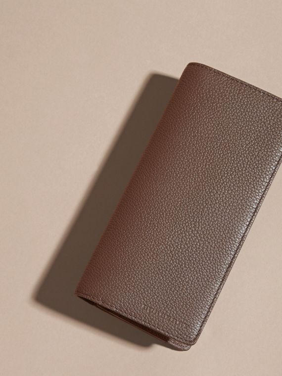 Deep taupe brown Grainy Leather Continental Wallet Deep Taupe Brown - cell image 2