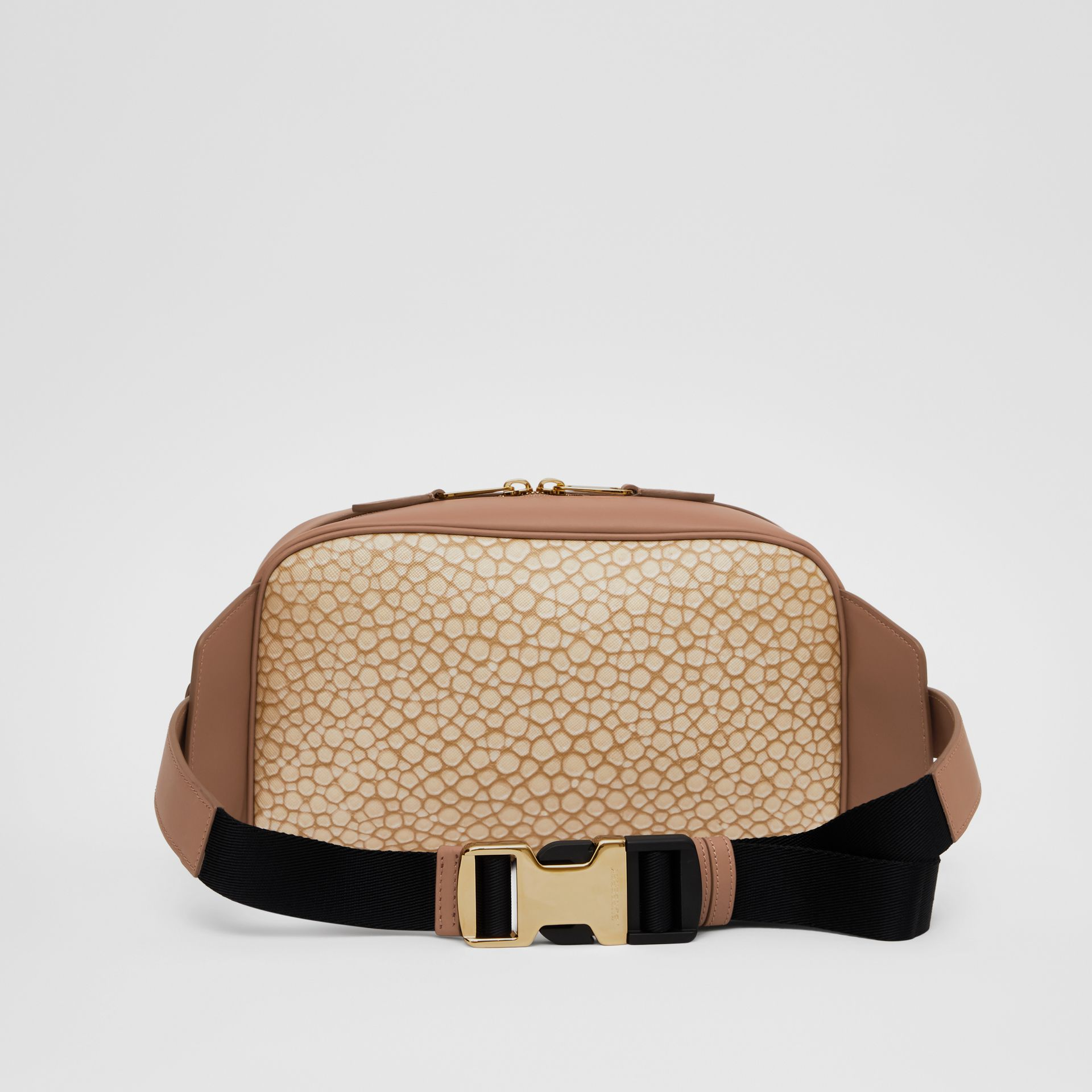 Fish-scale Print and Leather Cube Bum Bag in Light Sand - Women | Burberry Australia - gallery image 5