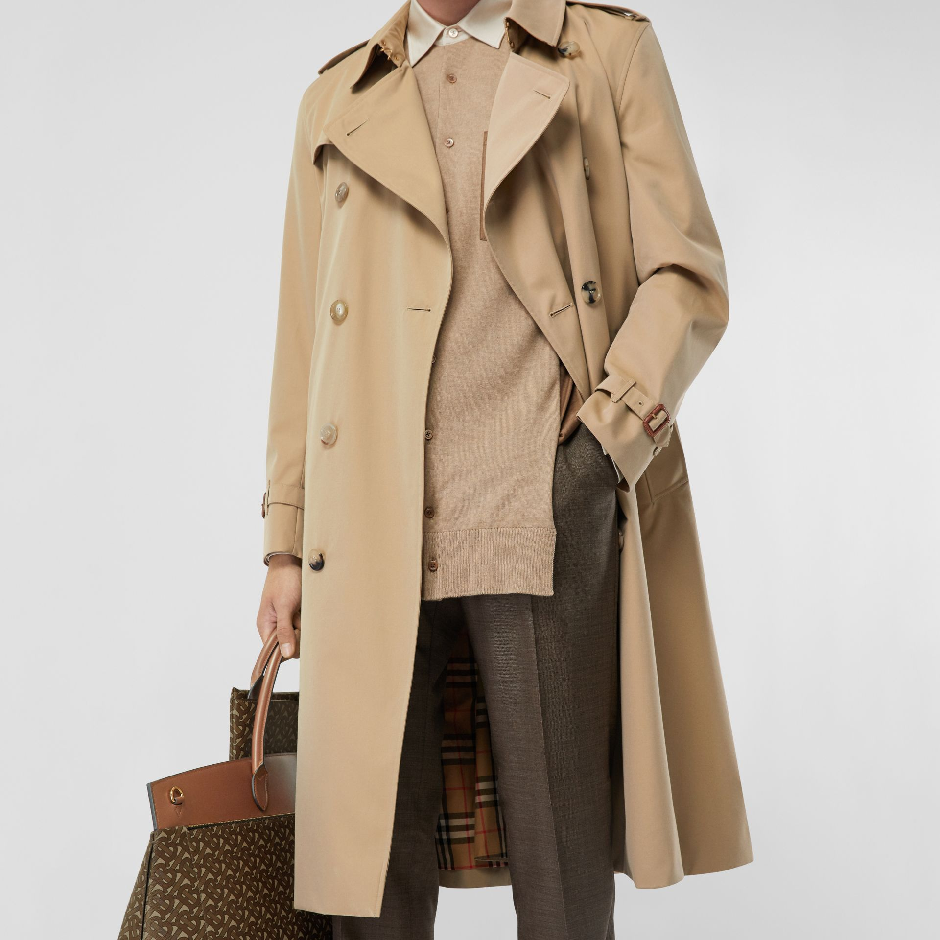 The Long Kensington Heritage Trench Coat in Honey - Men | Burberry - gallery image 10