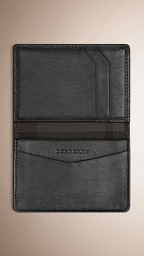 Black London Leather Card Case - Image 3