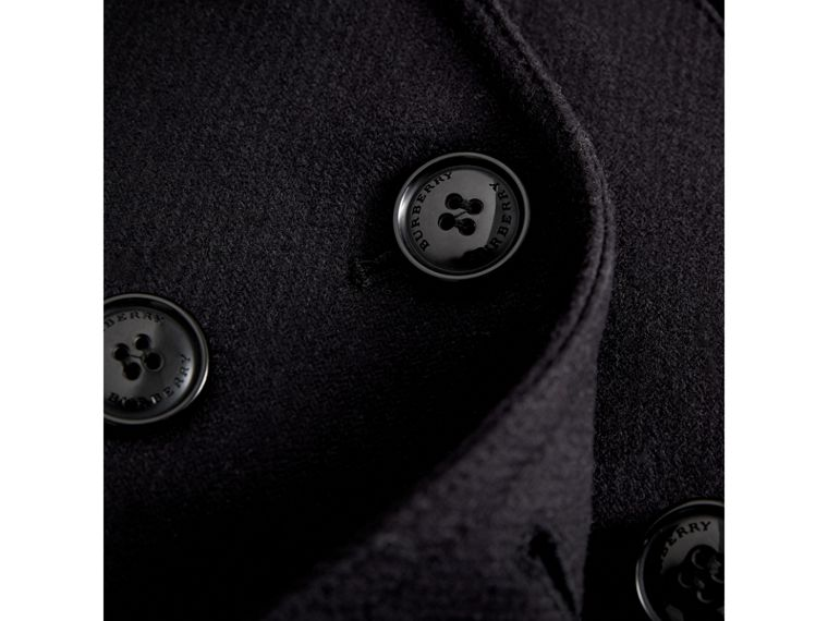 Wool Cashmere Blend Pea Coat with Down-filled Gilet in Navy - Girl | Burberry - cell image 4
