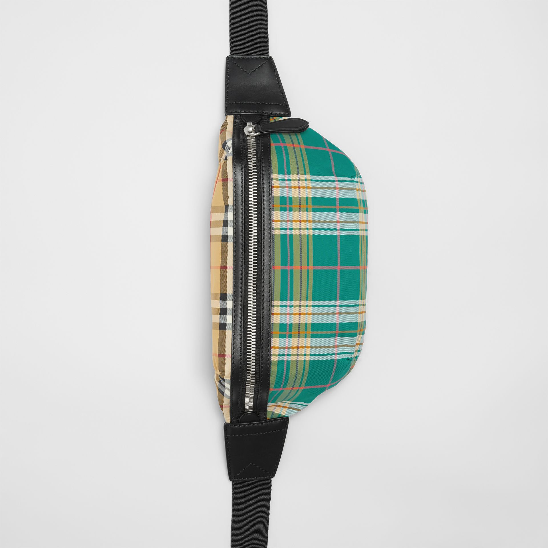 Medium Vintage Check and Tartan Bum Bag in Pine Green | Burberry - gallery image 0