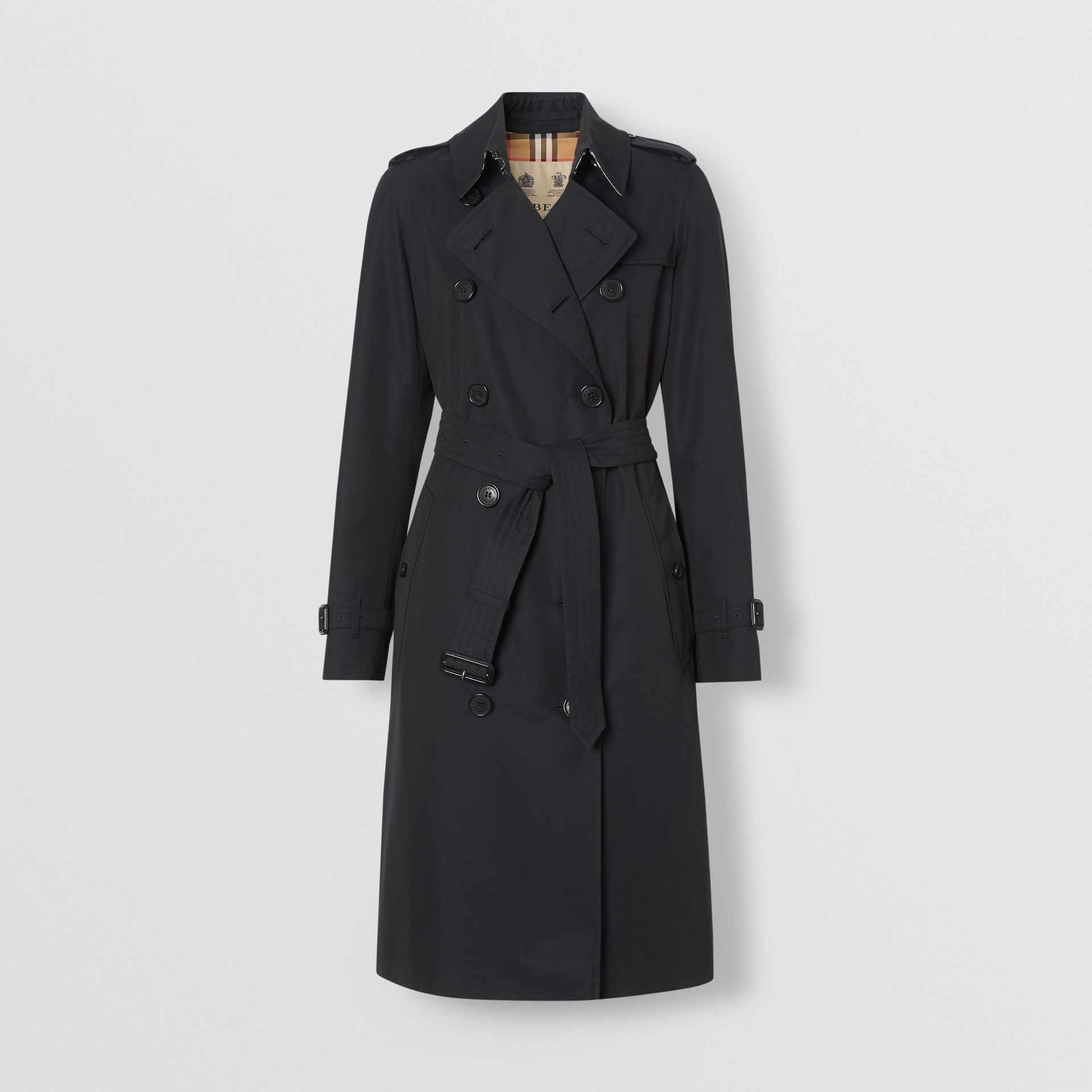 The Long Kensington Heritage Trench Coat in Midnight - Women | Burberry United States - gallery image 3