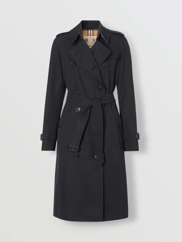 The Long Kensington Heritage Trench Coat in Midnight - Women | Burberry United States - cell image 3
