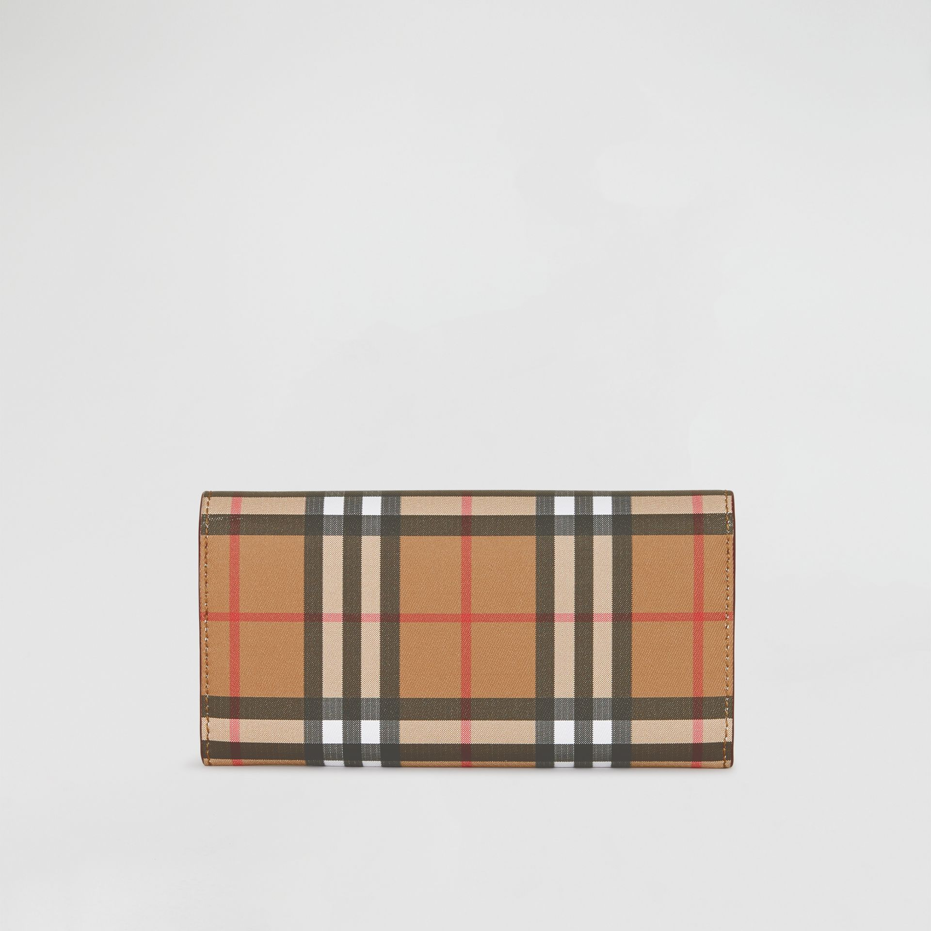 Vintage Check and Leather Continental Wallet in Crimson - Women | Burberry United States - gallery image 5