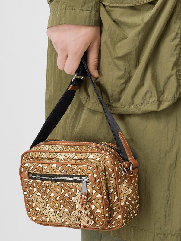 Monogram Print and Leather Crossbody Bag in Camo Brown - Men | Burberry - cell image 2