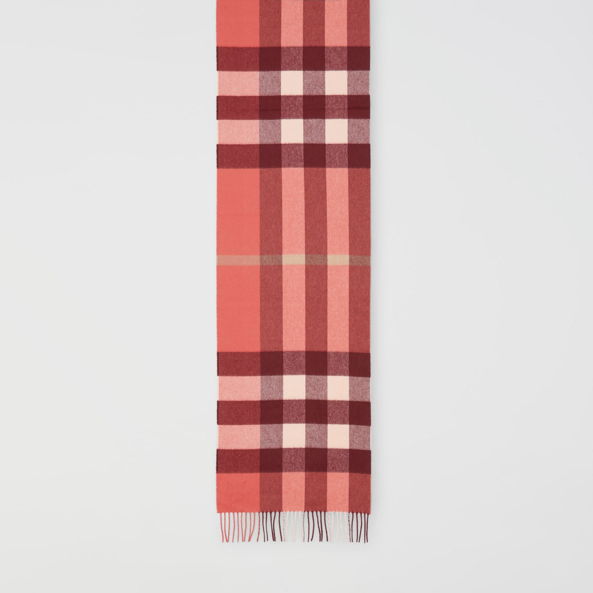 Check Cashmere Scarf in Clay Sienna | Burberry - gallery image 3