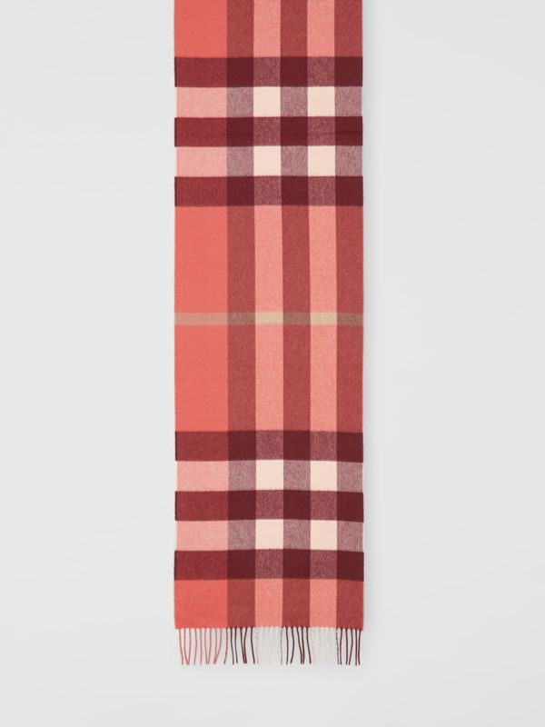 Check Cashmere Scarf in Clay Sienna | Burberry - cell image 3