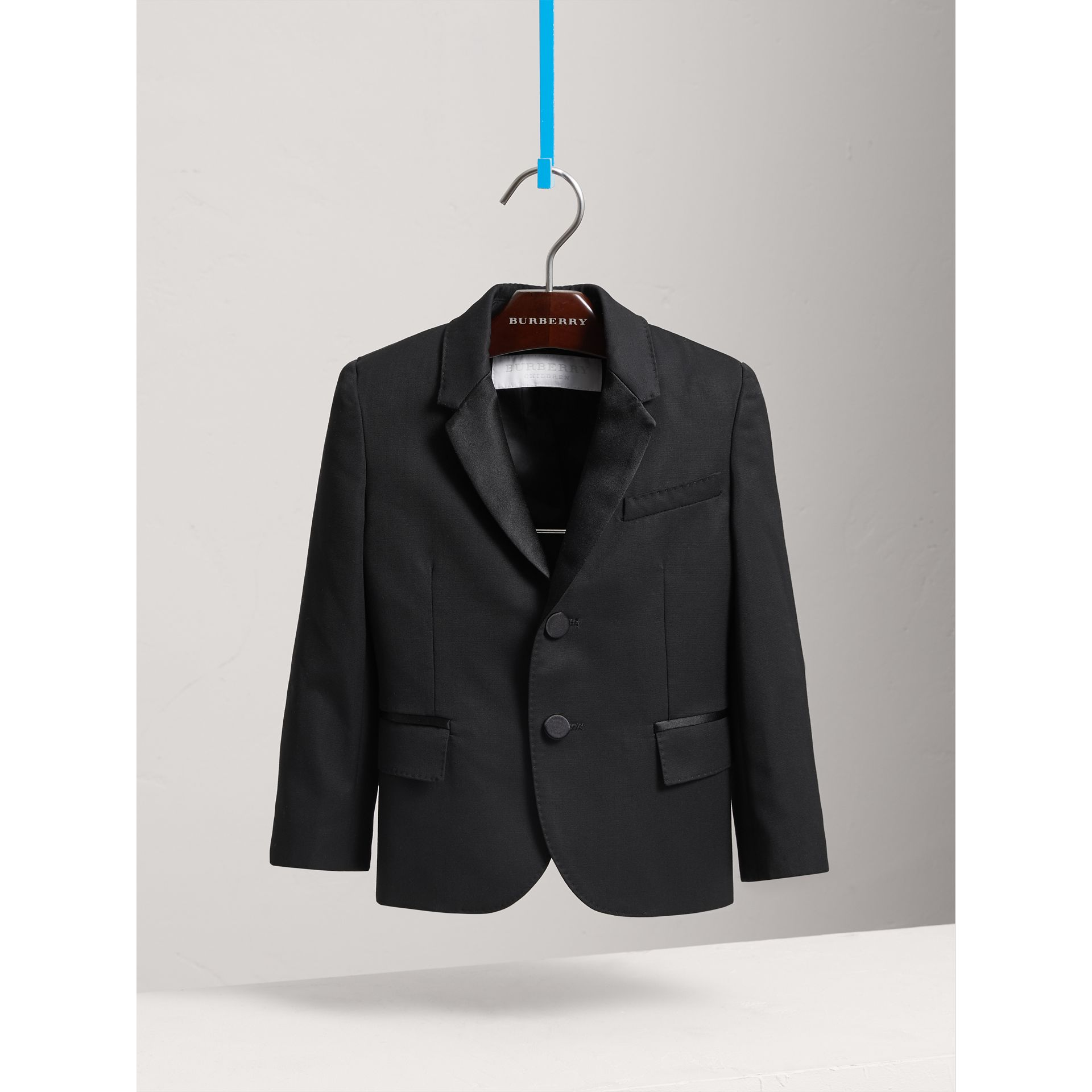 Wool Tuxedo Jacket in Black - Boy | Burberry - gallery image 3