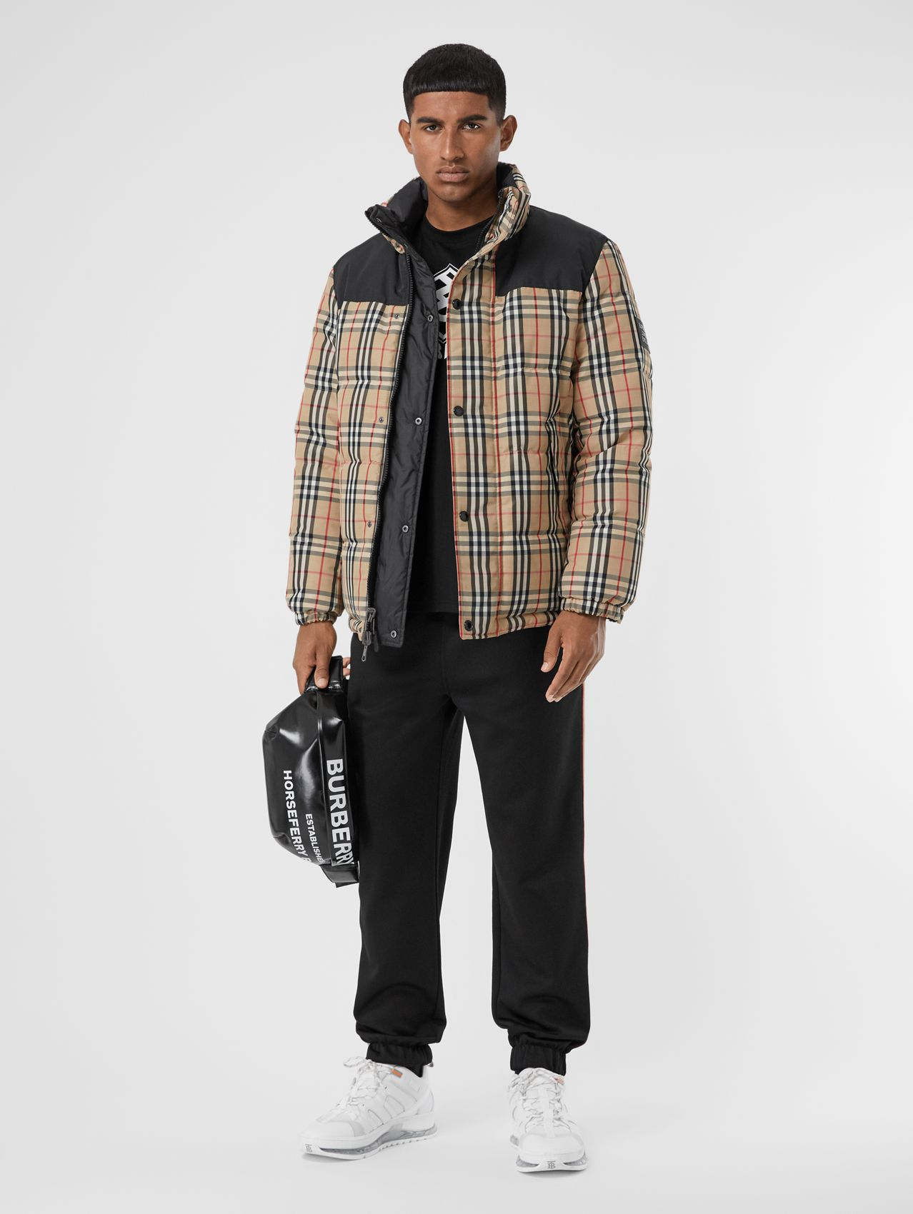 Reversible Vintage Check Recycled Polyester Jacket (Archive Beige)