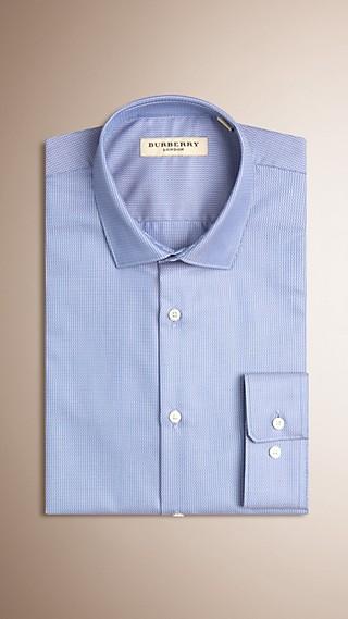 Modern Fit Graphic Micro Print Cotton Shirt