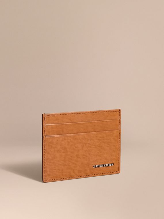 London Leather Card Case Tan