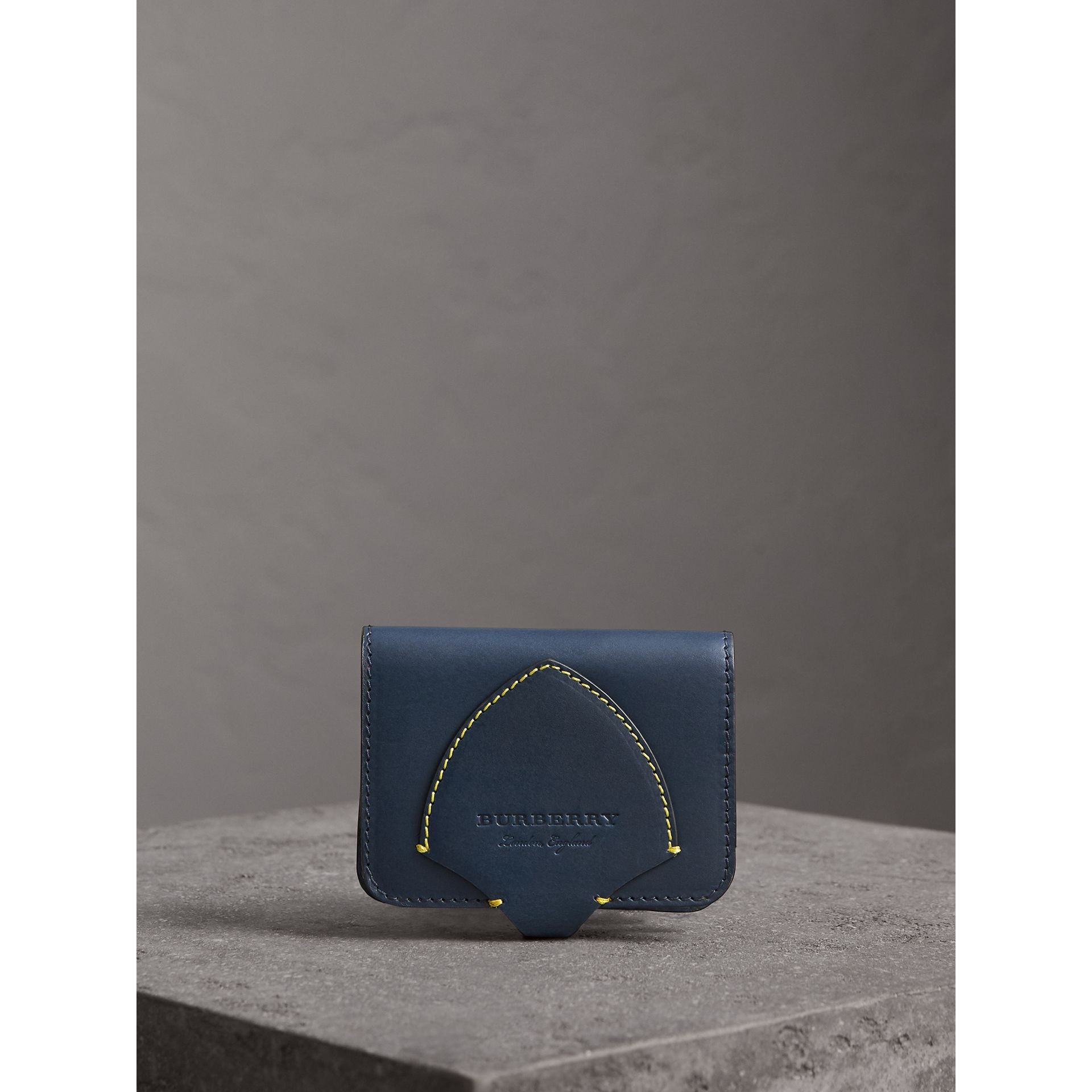 Equestrian Shield Leather Card Case in Mid Indigo | Burberry Australia - gallery image 5