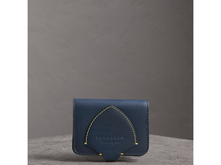 Equestrian Shield Leather Card Case in Mid Indigo | Burberry - cell image 4