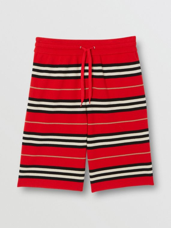 Merino Wool Drawcord Shorts in Bright Red