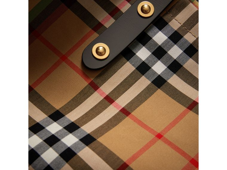 Large Rainbow Vintage Check Shopper in Dark Grey | Burberry Canada - cell image 1