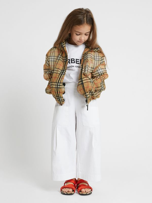 Lightweight Vintage Check Hooded Jacket in Antique Yellow | Burberry Canada - cell image 2