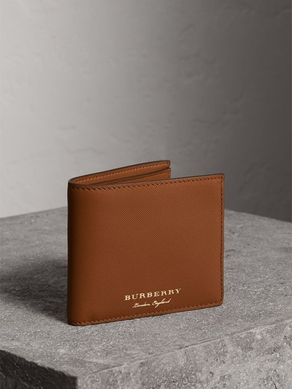 Trench Leather International Bifold Wallet in Tan