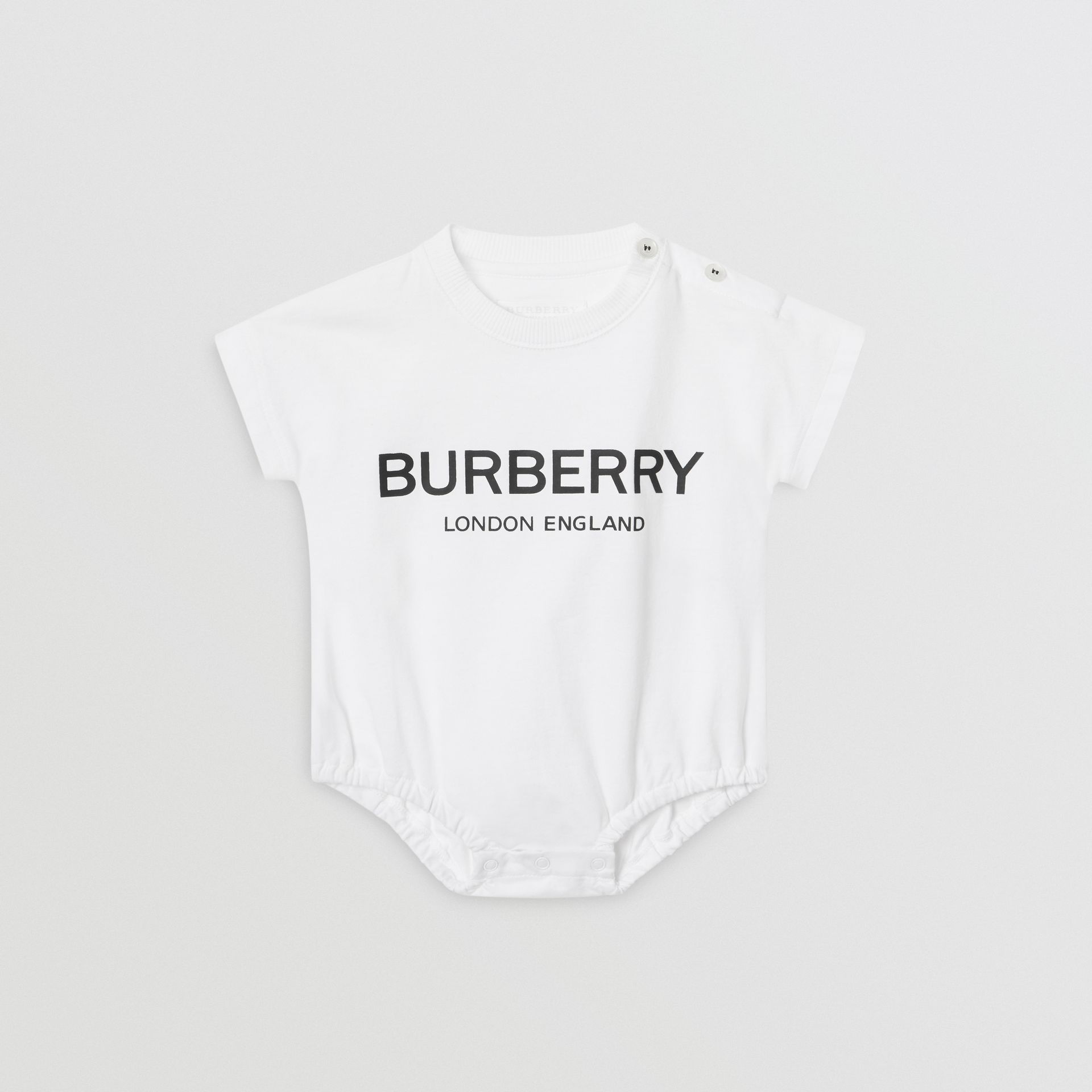 Logo Print Cotton Four-piece Baby Gift Set in Black/white - Children | Burberry Hong Kong - gallery image 3