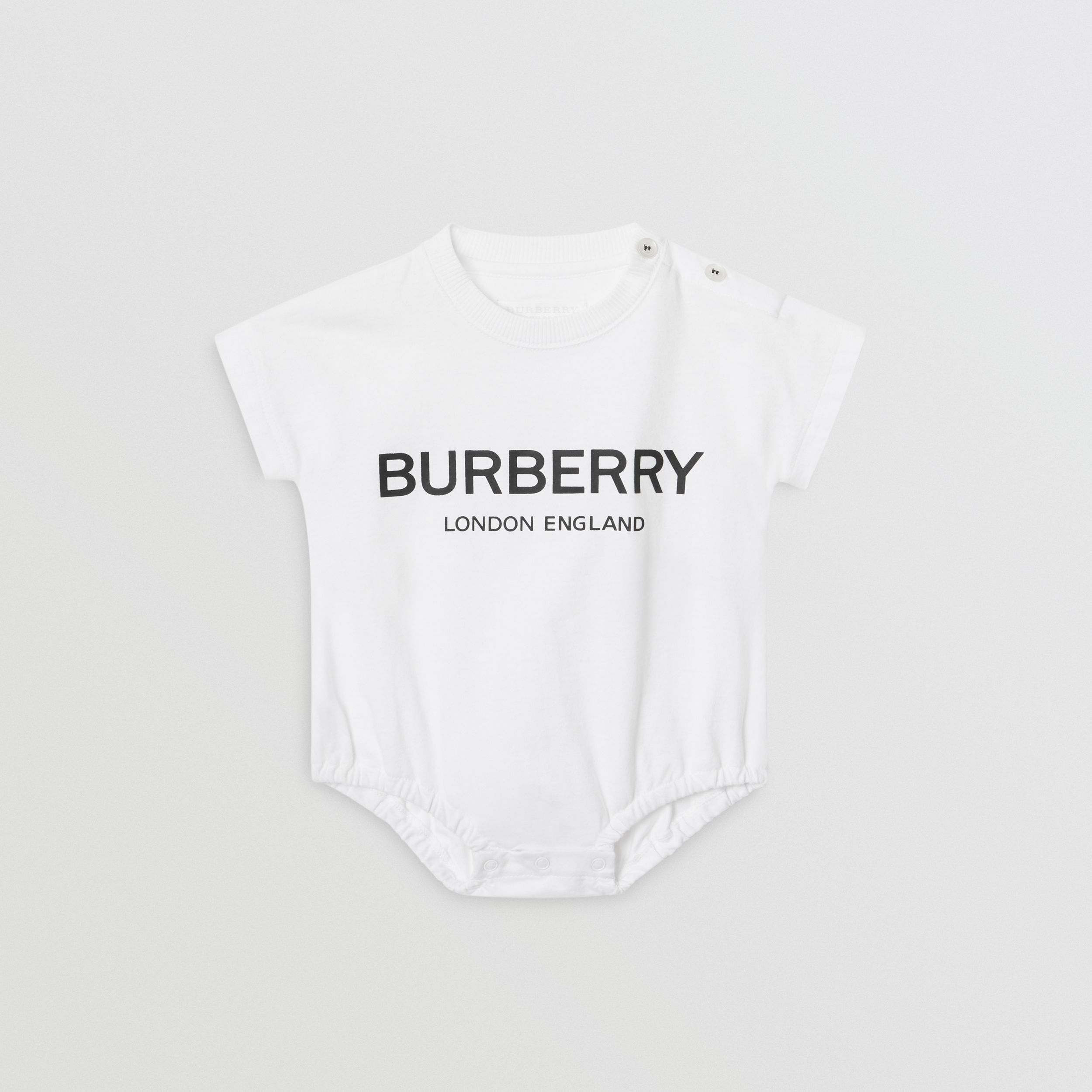 Logo Print Cotton Four-piece Baby Gift Set in Black/white - Children | Burberry United Kingdom - 4
