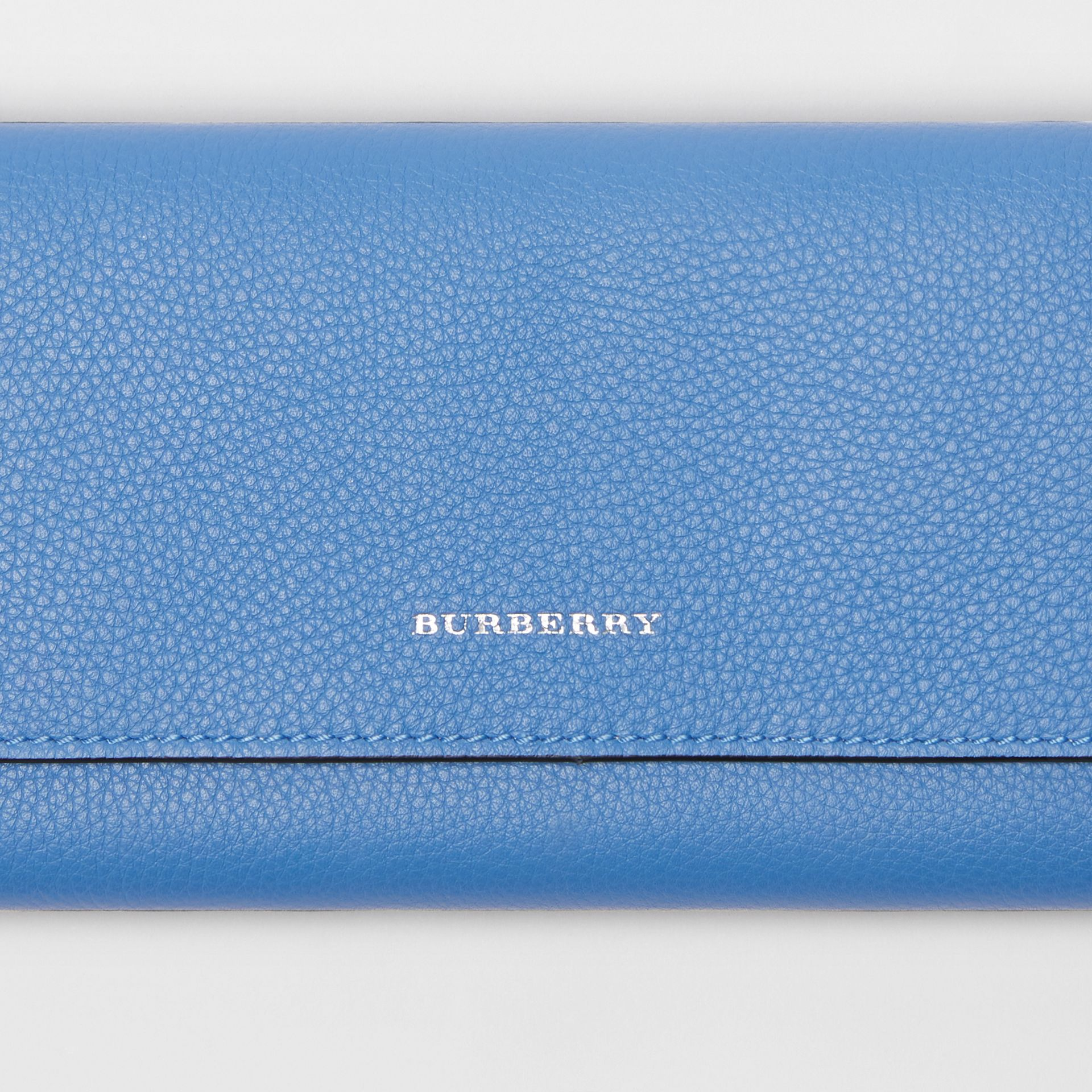 Leather Continental Wallet in Hydrangea Blue - Women | Burberry Australia - gallery image 1