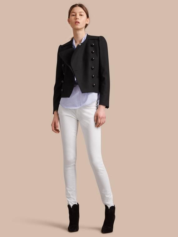 羊毛混紡雙排扣外套