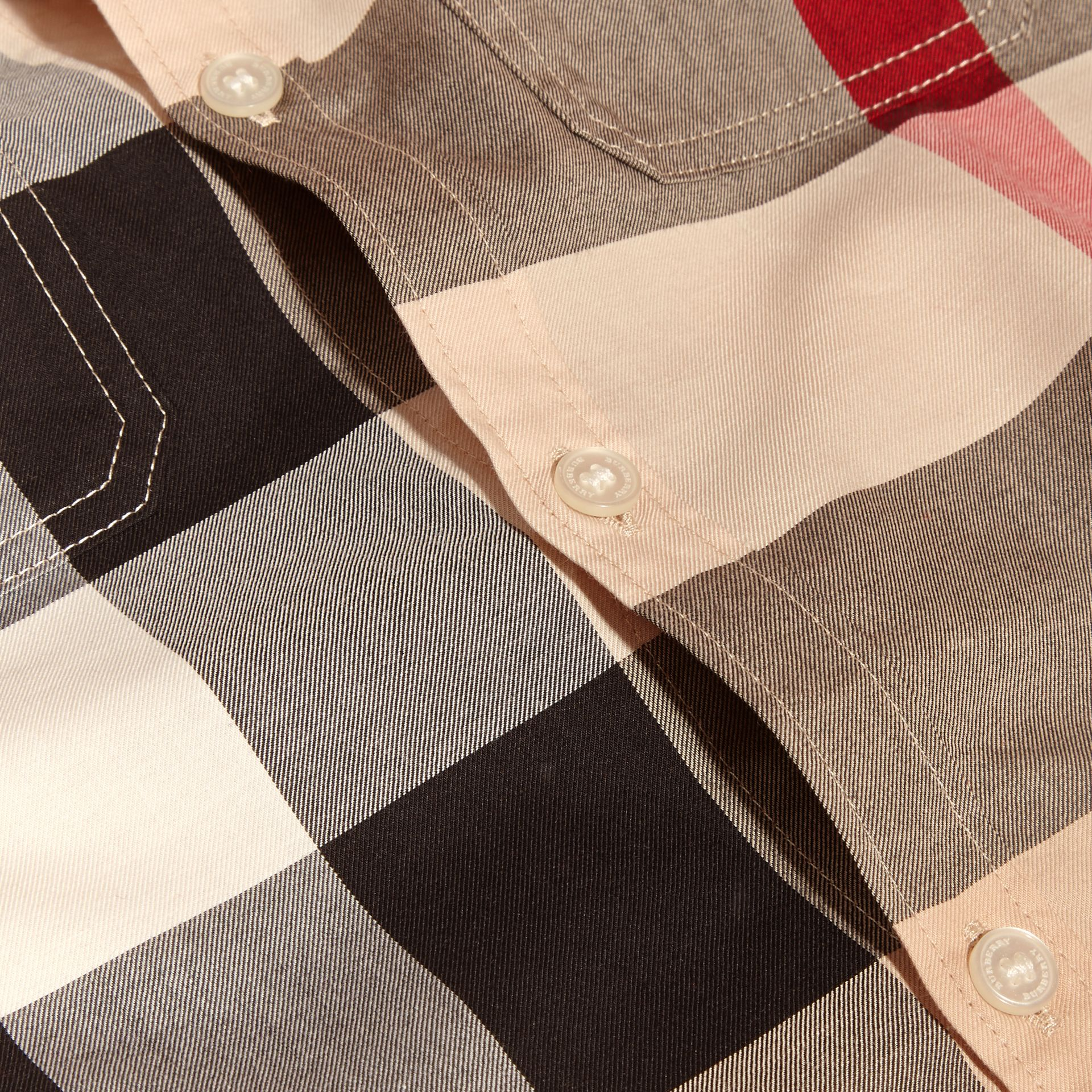 Short-sleeve Check Cotton Shirt in New Classic - Boy | Burberry - gallery image 1