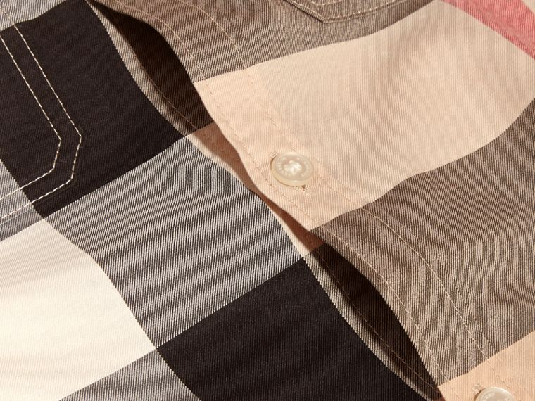Short-sleeve Check Cotton Shirt in New Classic - Boy | Burberry - cell image 1