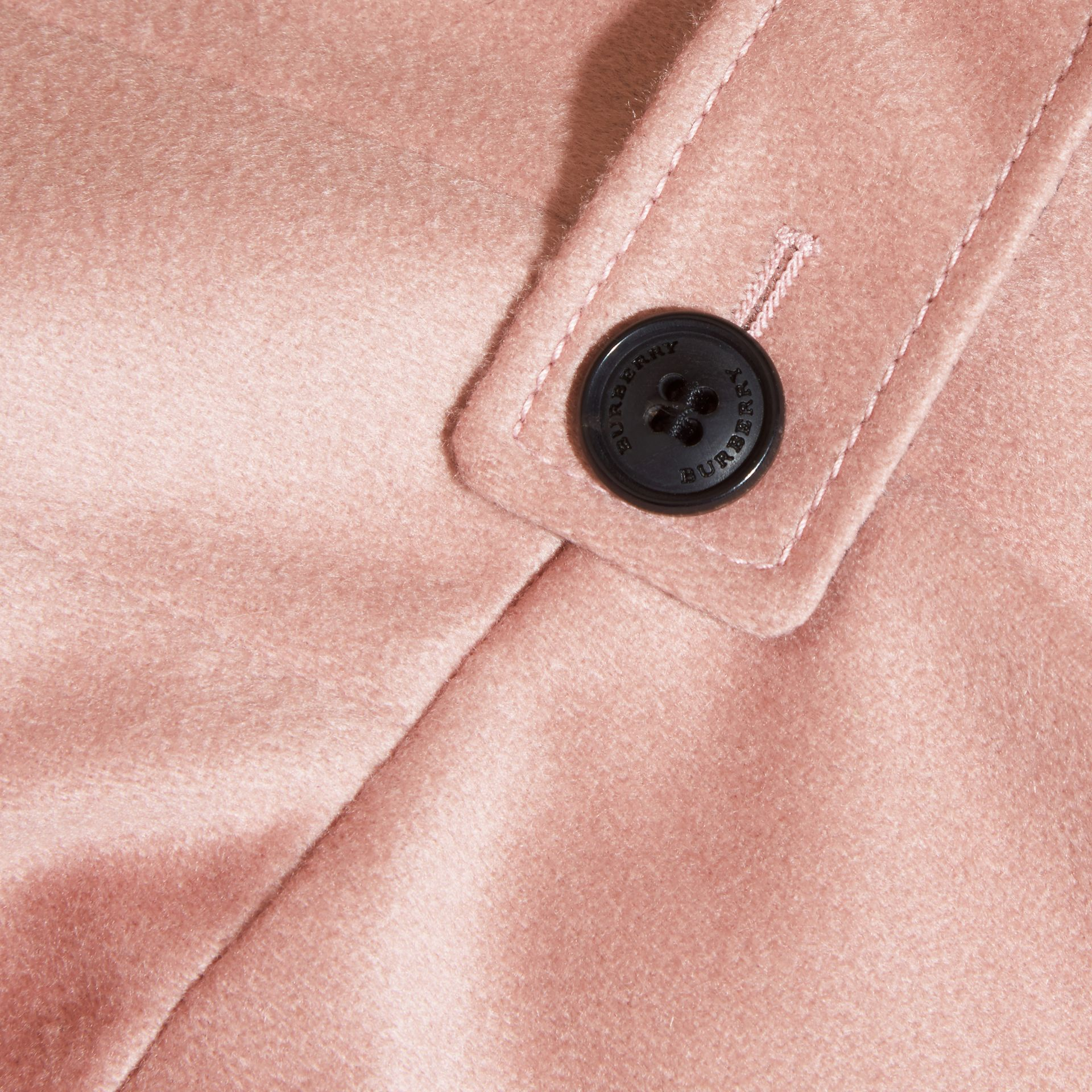 Chalk pink Cashmere Military Coat Chalk Pink - gallery image 2